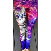 pants,space cat leggings