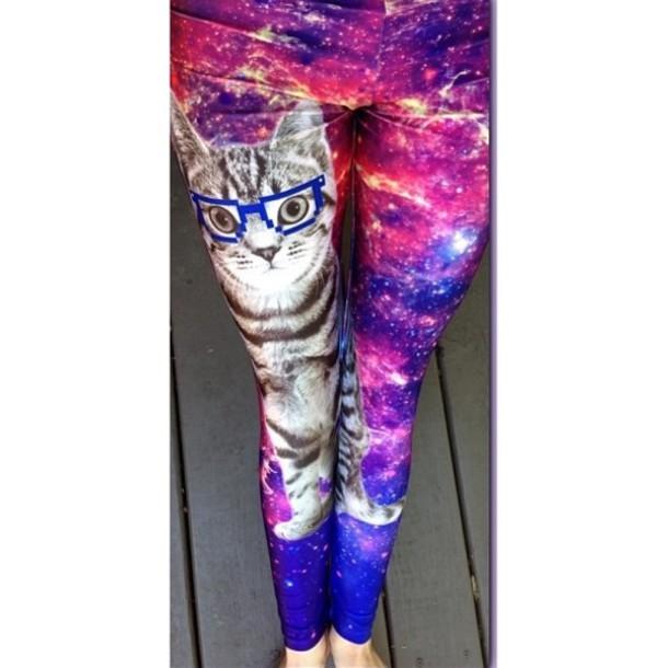 pants space cat leggings