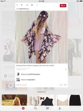 skirt pink skirt skater skirt hair accessory shirt cardigan scarf
