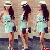 jumpsuit,dress,mint,mint green jumpsuit,summer,beautiful,mint dress,summer outfits,summer dress