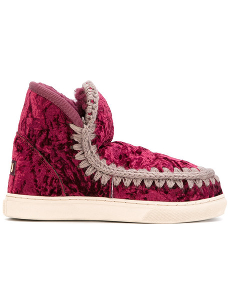 Mou women boots red shoes