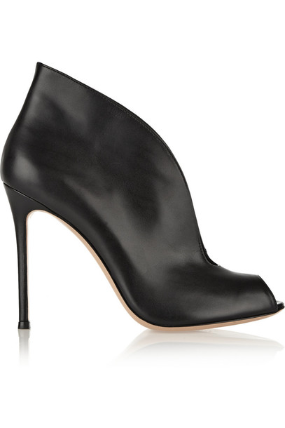 Gianvito Rossi leather ankle boots boots ankle boots leather black shoes