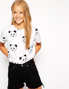 Shirt with panda print at asos