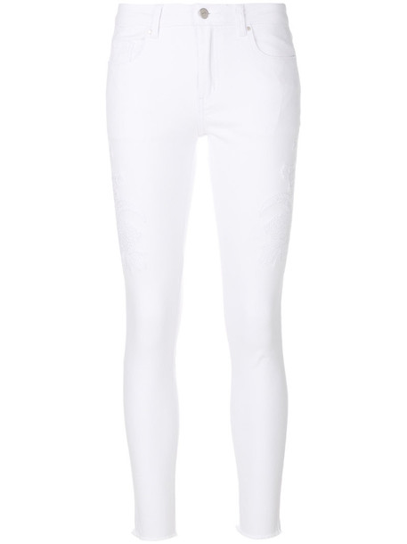 Steffen Schraut jeans women spandex floral white cotton
