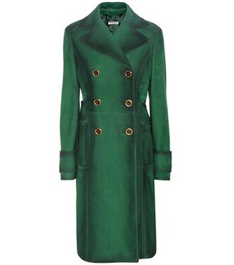 coat suede green