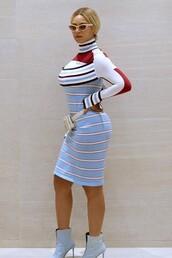 dress,midi dress,stripes,beyonce,celebrity