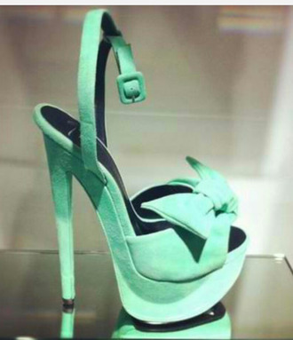 shoes green shoes bows ankle strap heels sexy shoes high heels party shoes suede shoes bow shoes