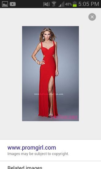 dress red dress formal dress prom dress long dress slit dress