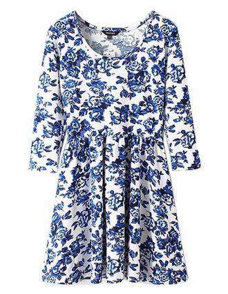 dress brenda shop vintage retro floral floral dress blue blue dress pleated pleated dress