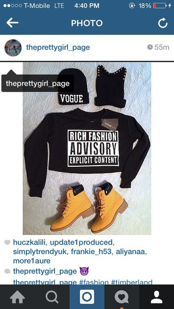 sweater dope timberland boots shoes beanie vouge fashion