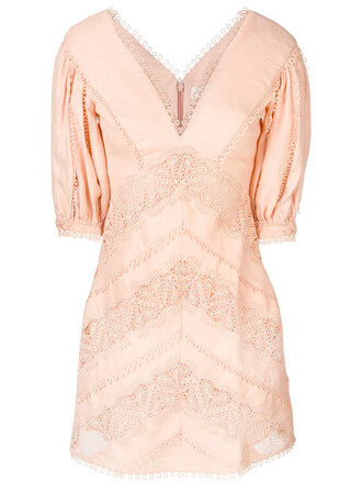 dress heart women nude silk chevron