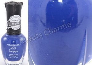 Amazon.com: Kleancolor Opaque Matte Finish Nail Polish Lush Blue -262: Health & Personal Care