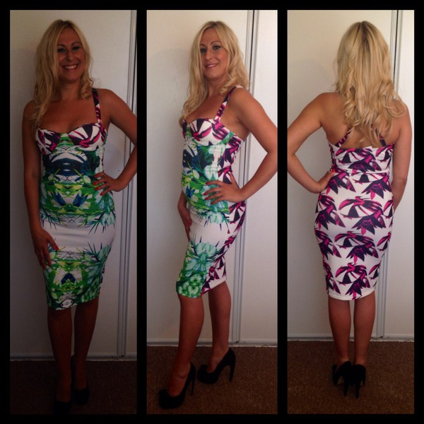 summer dress summer shoes floral dress pretty floral bodycon dress bodycon sexy dress party dress slimming bodycon pink dress white dress green dress uber by design