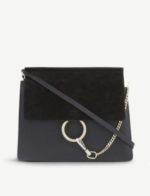 CHLOE Faye leather & suede cross-body bag