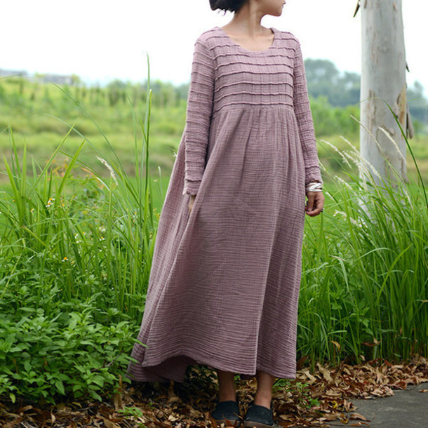 women dress, linen dress, plus size dress, women clothing ...