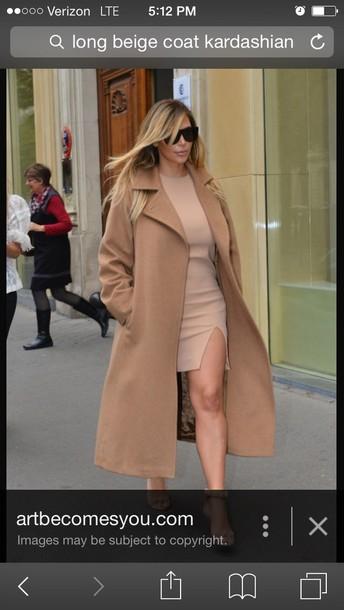 coat beige kardashian