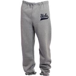 UCLA Bruins Felt Script Sweatpant - Grey