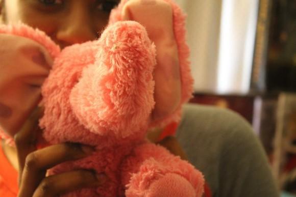 elephant bag stuffed animal fuzzy fluffy