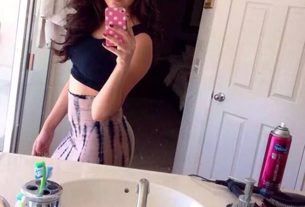 maxi skirt tie dye