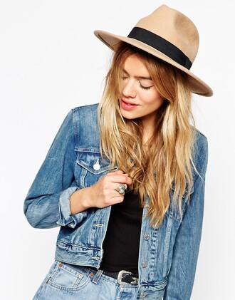 hat fedora brown hat felt hat