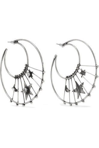 earrings hoop earrings silver jewels
