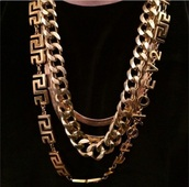 jewels,gold versace chain,jewelry,gold,gold jewelry,gold necklace,gold chain,necklace