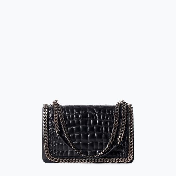 bag croc city bag pattern crocodile purse chain