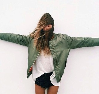 jacket bomber jacket khaki bomber jacket orange military style boho boho chic indie tumblr tumblr outfit green dress grunge oversized sweater streetstyle streetwear khaki