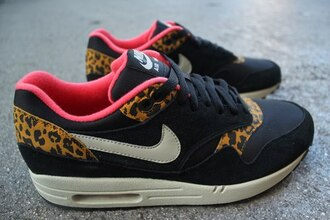 shoes nike air max leopard print pink black pantherprint