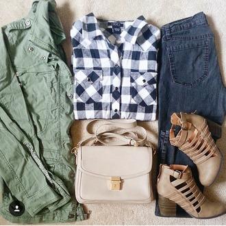 blouse jacket jeans bag shoes