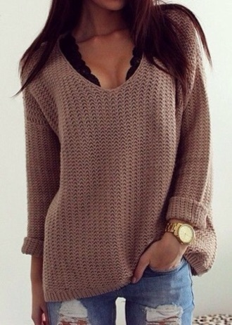 sweater brown fall outfits fall sweater autumn/winter fashion pinterest instagram trendy girl girly girly wishlist