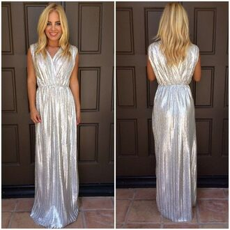 metallic dress silver dress maxi dress maxi metallic ustrendy ustrendy dress grecian dress