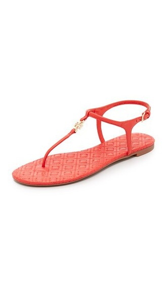 quilted sandals red shoes