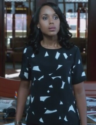 blouse black and white top silk kerry washington olivia pope scandal