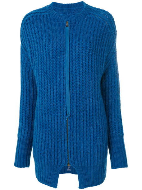 cardigan cardigan zip women blue wool sweater