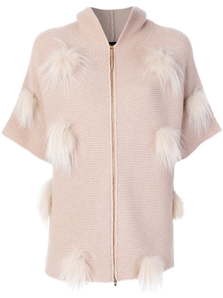 cardigan cardigan fur fox women nude sweater