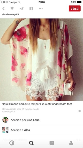 blouse flowy floral pink