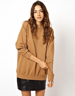 ASOS | ASOS Premium Textured Oversized Sweat at ASOS