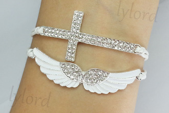 dress diamonds jewelry angel wings cross wings angel bracelets jewels