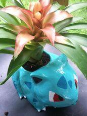 jewels,flower pot,bulbizarre,bulbasaur,tumblr,pokemon,flowers,light blue,blue,green,yellow,kitchie,kawaii,cute,home decor