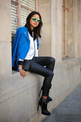viva luxury sunglasses pants jacket bag jewels sweater shoes leather leather leggings coat