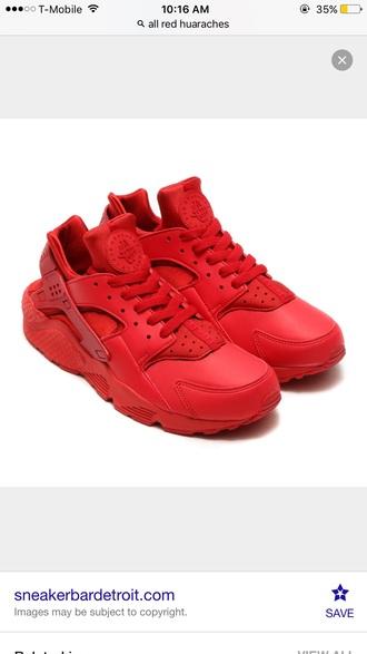 shoes red nike huarache sneakers customized nike huaraches nikeshoe nike running shoes