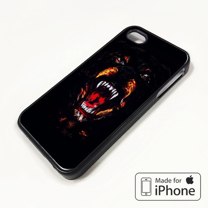 Givenchy rottweiler dog head iphone 5/5s case apple phone cover plastic