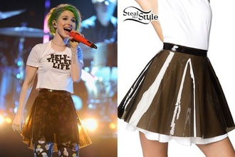 skirt hayley williams skater skirt shirt tights