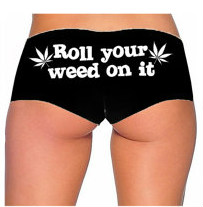 Roll your weed on it panties [black & white] · radtrash ·