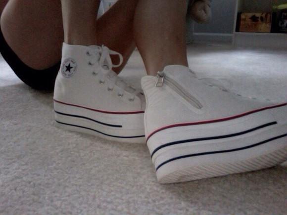 shoes converse platform sneakers