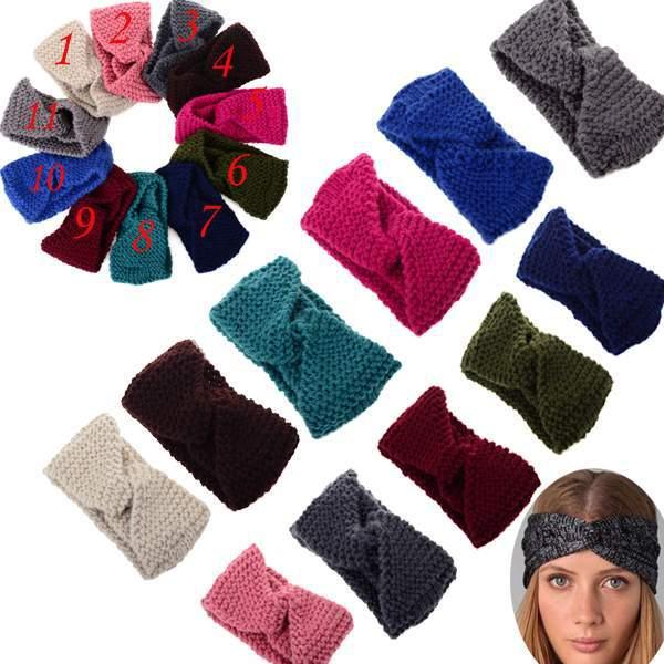 Fashion Women Winter Crochet Cross Headband Ear Warmer Knitted Headwrap hairband[CW05046*2]-in Hair Accessories from Apparel & Accessories on Aliexpress.com