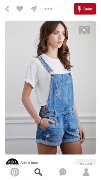 romper denim overalls short overalls