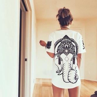 shirt elephant black and white