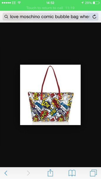 bag love moschino moschino tote bag multicolor